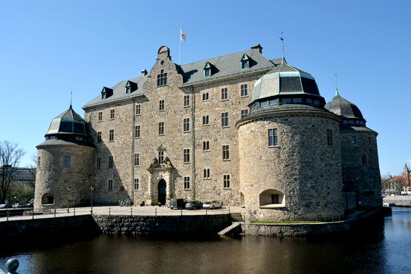 исторический замок в Швеции